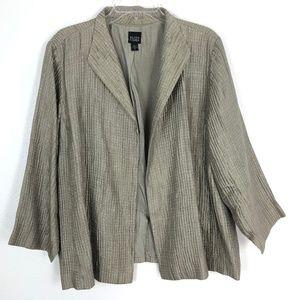 Eileen Fisher Silk Blend Open Front Blazer